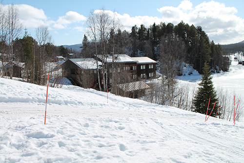 The Ammarnäs research station in a winter setting.